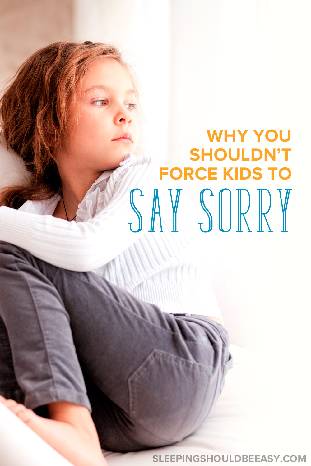 Child refuses to apologize and say sorry