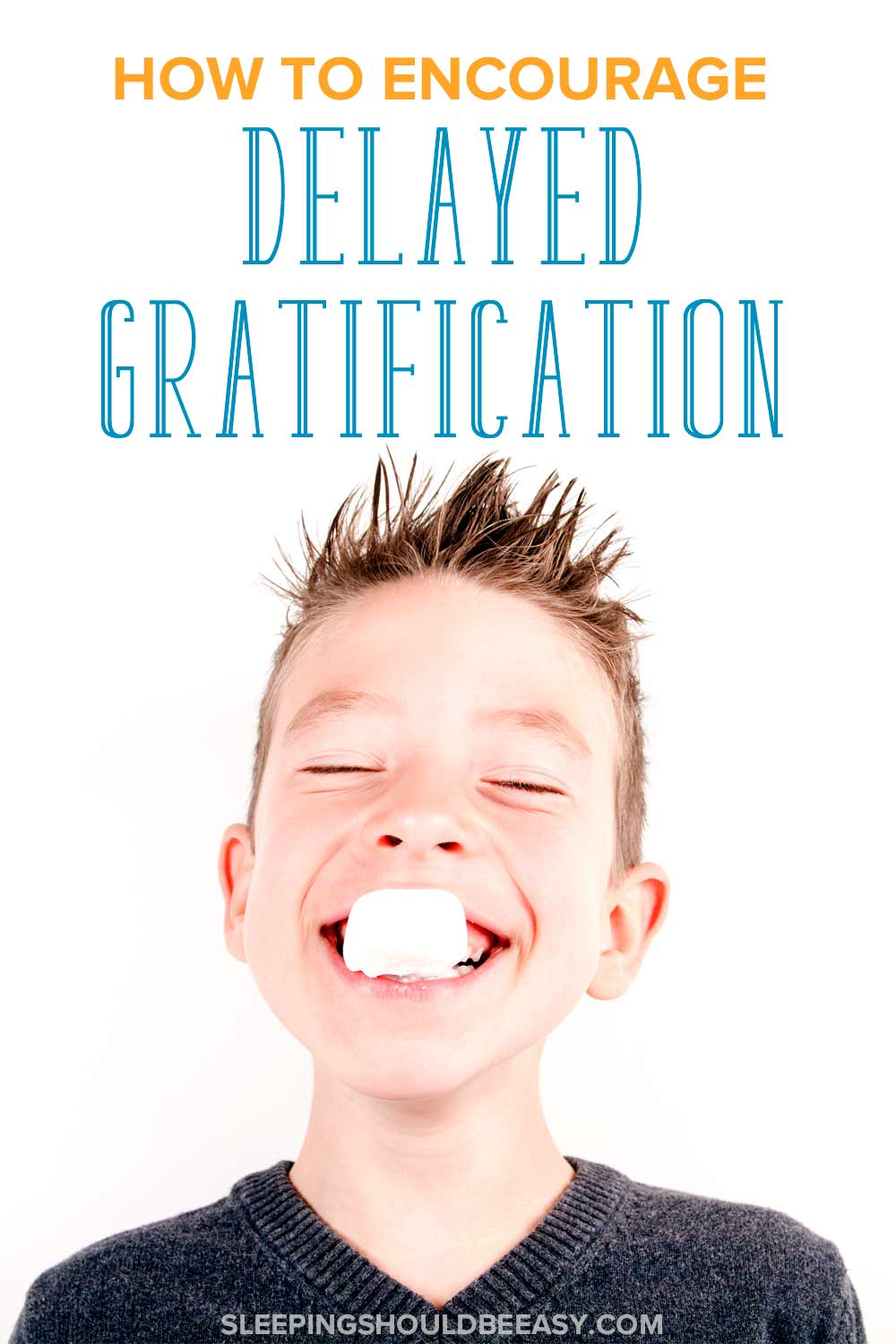 Boy eating a marshmallow: How to encourage delayed gratification