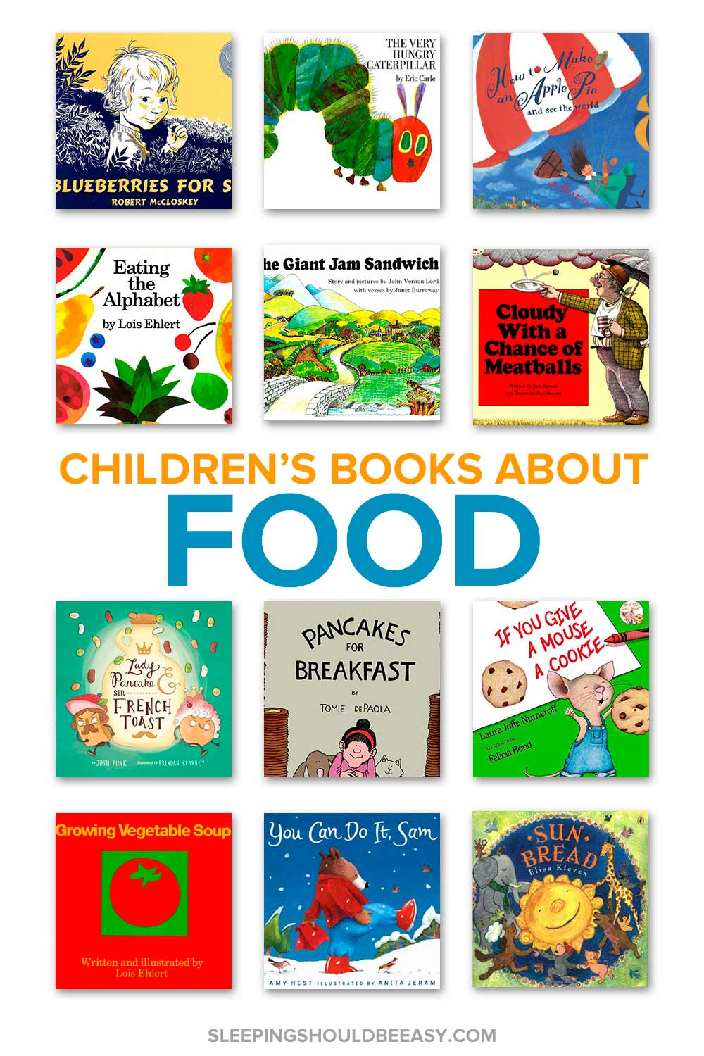 A collection of children's books about food