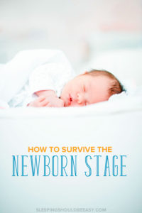 Baby sleeping: How to survive the newborn stage