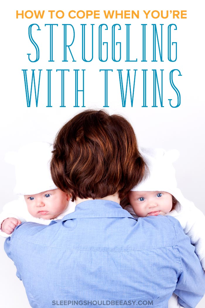A mother struggling with twins