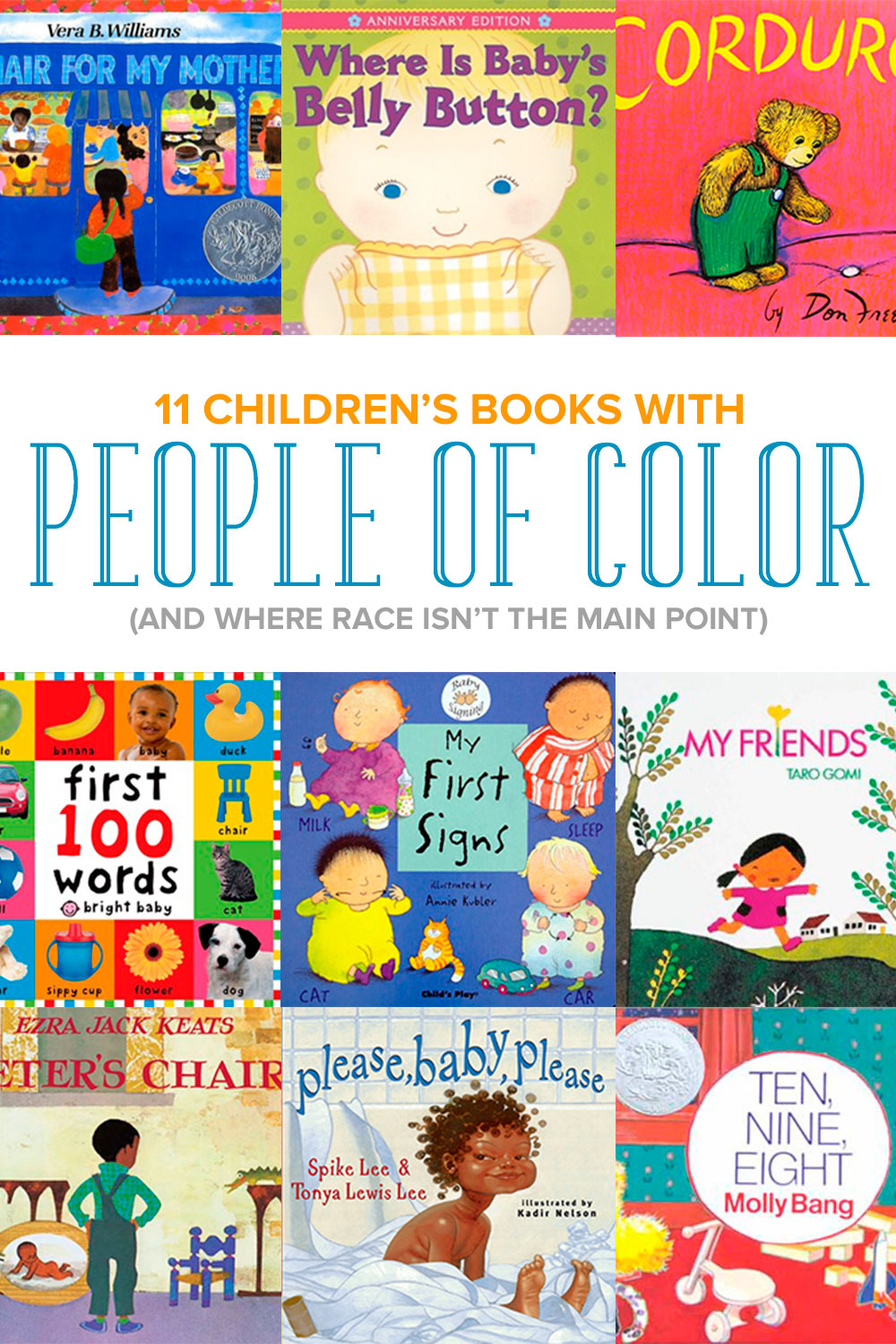 Add diversity to your child's library with these 11 children's books about people of color (and where the focus of the book isn't about race).