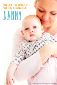 Nanny holding a baby in her arms