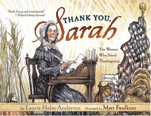 Thank You, Sarah by Laurie Halse Anderson
