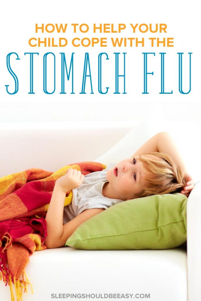 Little boy lying on the couch, recovering from the stomach flu