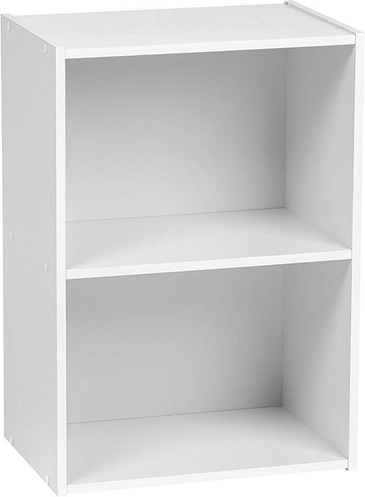 IRIS USA 2-Tier Wood Storage Shelf