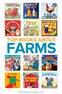 A collection of children's books about farms