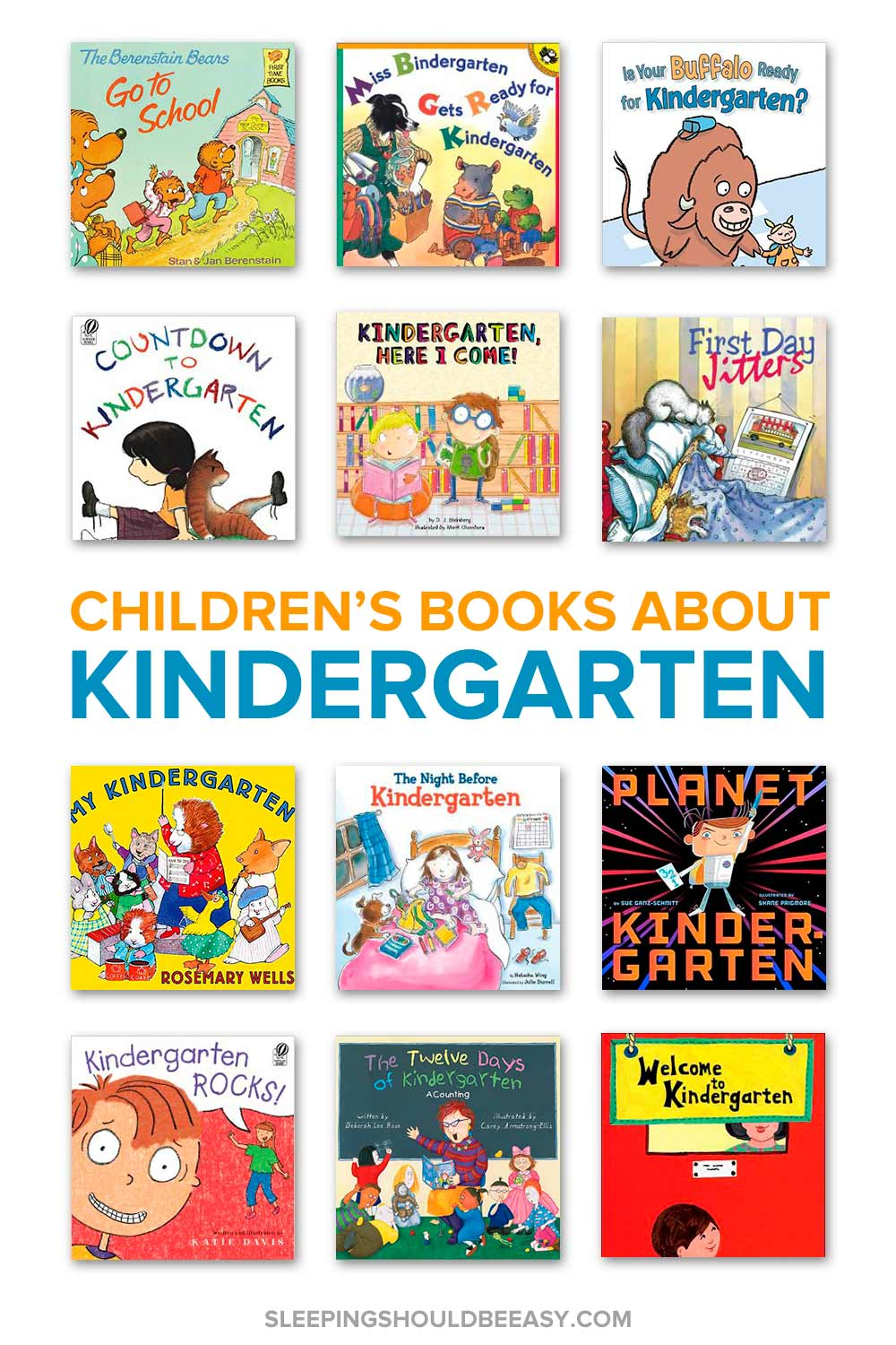 A collection of children's books about kindergarten