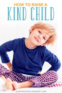 How to raise a kind child: a happy, smiling boy sitting down