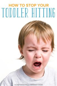 Little boy crying: How to stop toddler from hitting