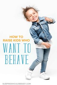 How to raise kids who want to behave: Funny little girl smiling and dancing