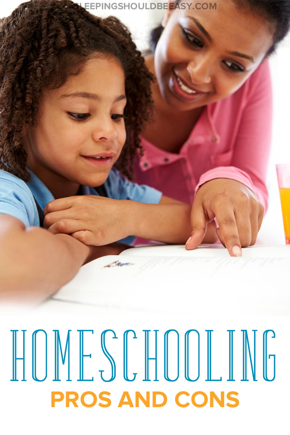 Homeschooling pros and cons: mom homeschooling her daughter
