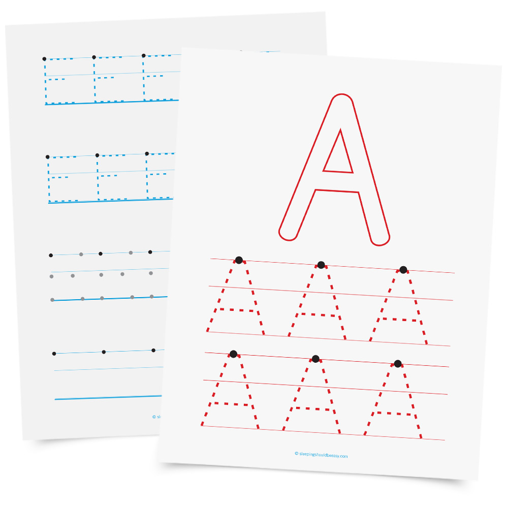 Handwriting worksheets on letters and numbers