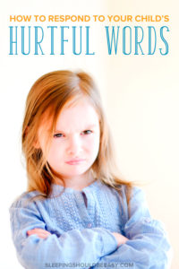 Have your feelings been hurt when your child said something mean to you? All families will go through stages when kids say things that might sting. See what lessons you and your child can learn to better communicate and bring peace back into your relationship. Here's how to respond when kids say hurtful words.