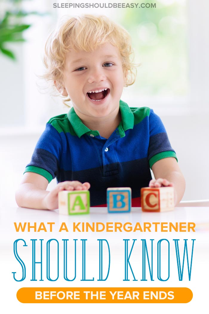 What a kindergartener should know