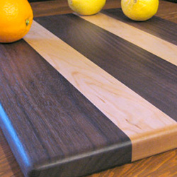 Father's Day gift idea: Walnut and maple cutting board for the chef