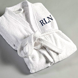 Father's Day gift idea: A personalized robe with his initials