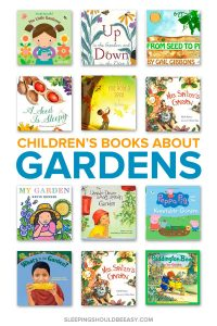 A collection of children's books about gardens