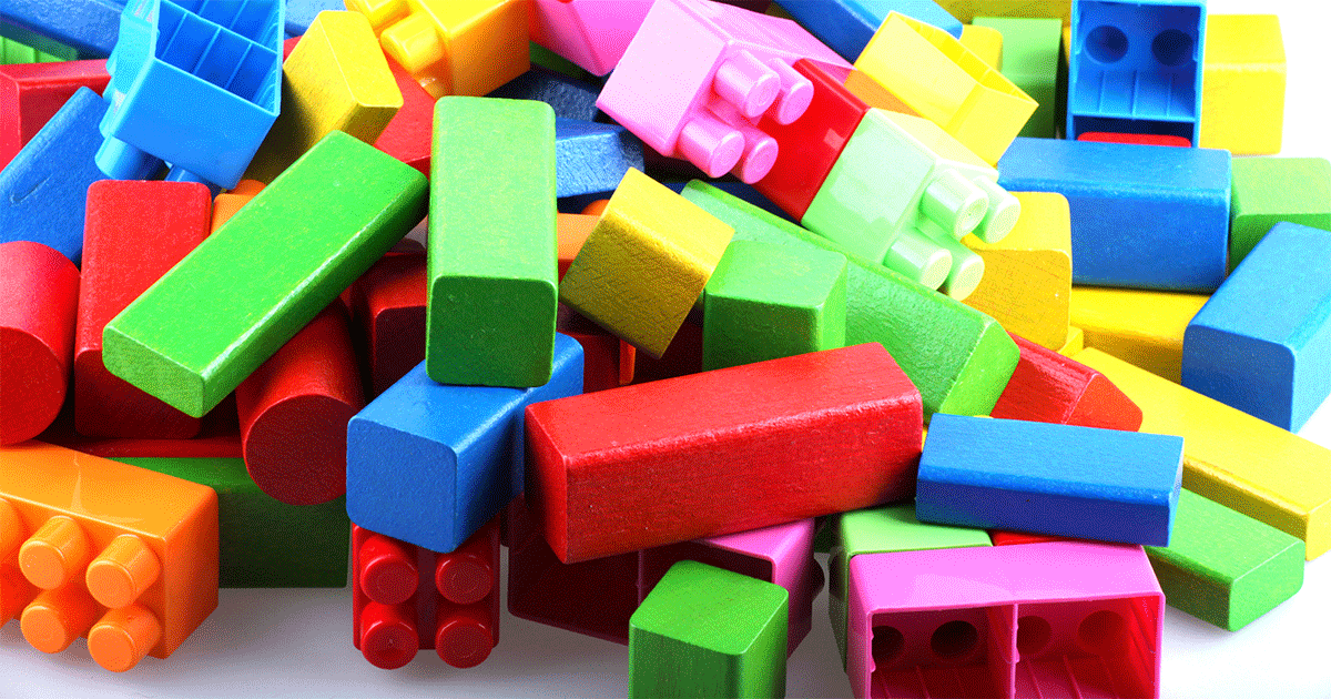 Pile of Lego and blocks