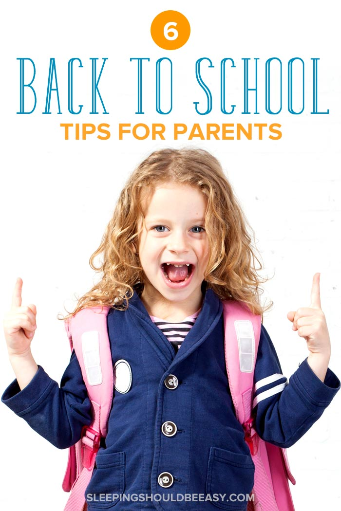 little girl with a backpack: 6 back to school ideas for parents