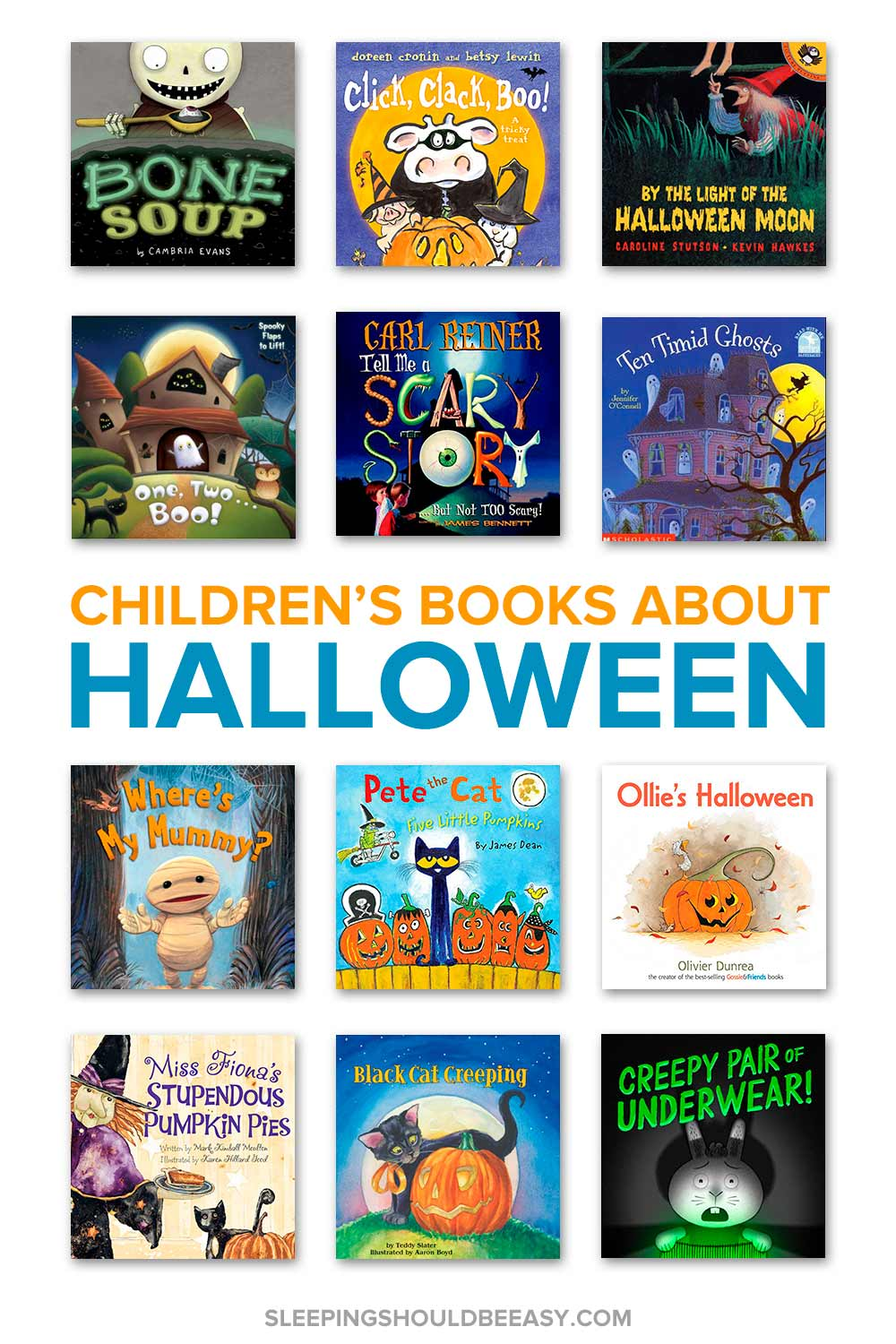 A collection of Halloween books for kids