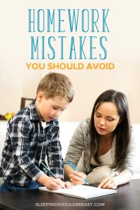 Mom helping her son with homework: homework mistakes you should avoid