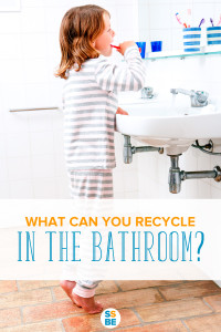 What can you recycle and reuse in the bathroom? Here is a handy list of all the items you can and can't recycle and reuse.