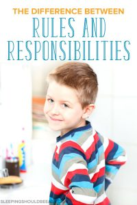 A little boy in the bathroom, learning the difference between rules and responsibilities