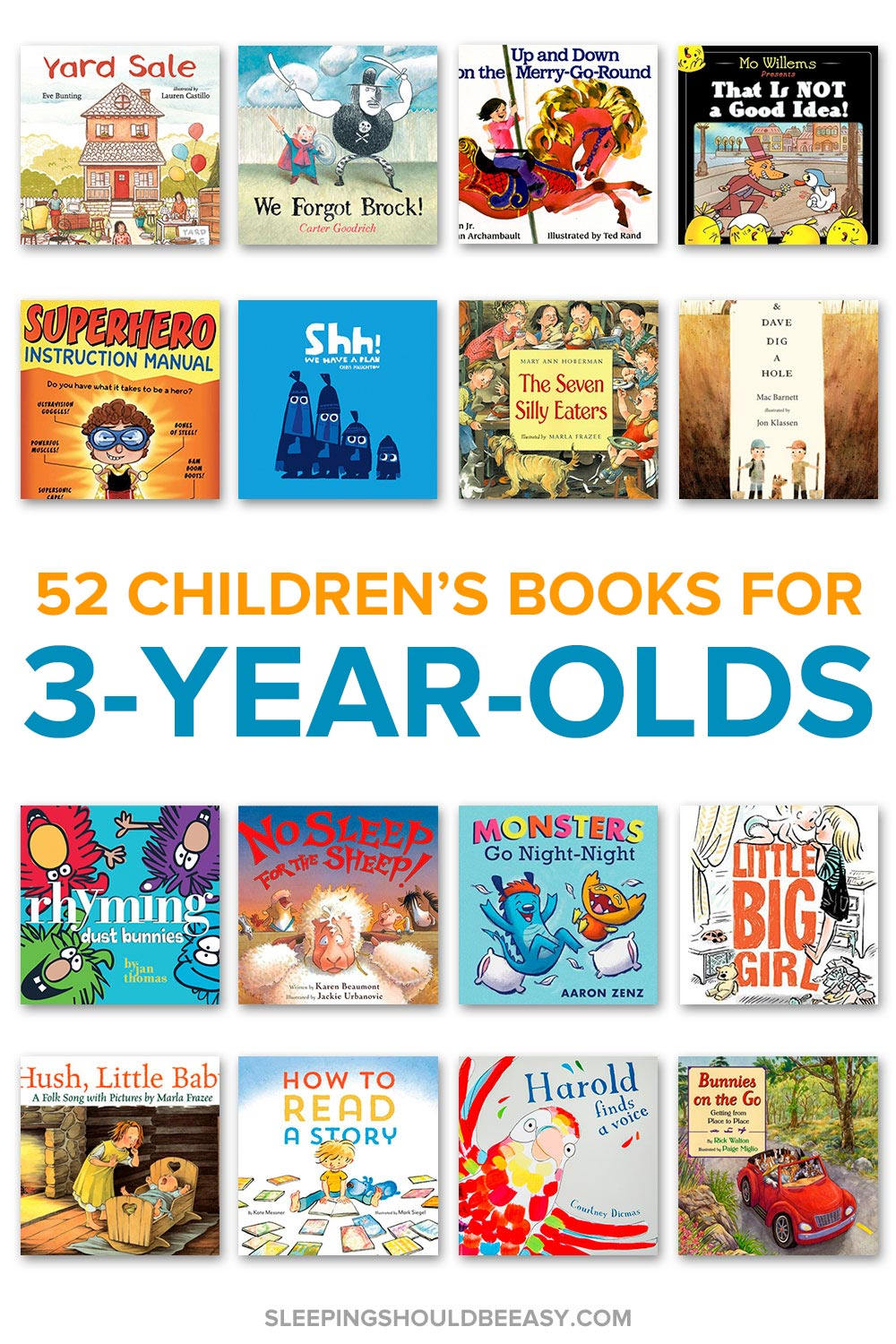 A collection of children's books for 3 year olds