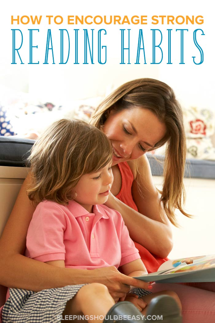 Mom and child building good reading habits