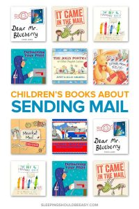 A collection of children's books about mail