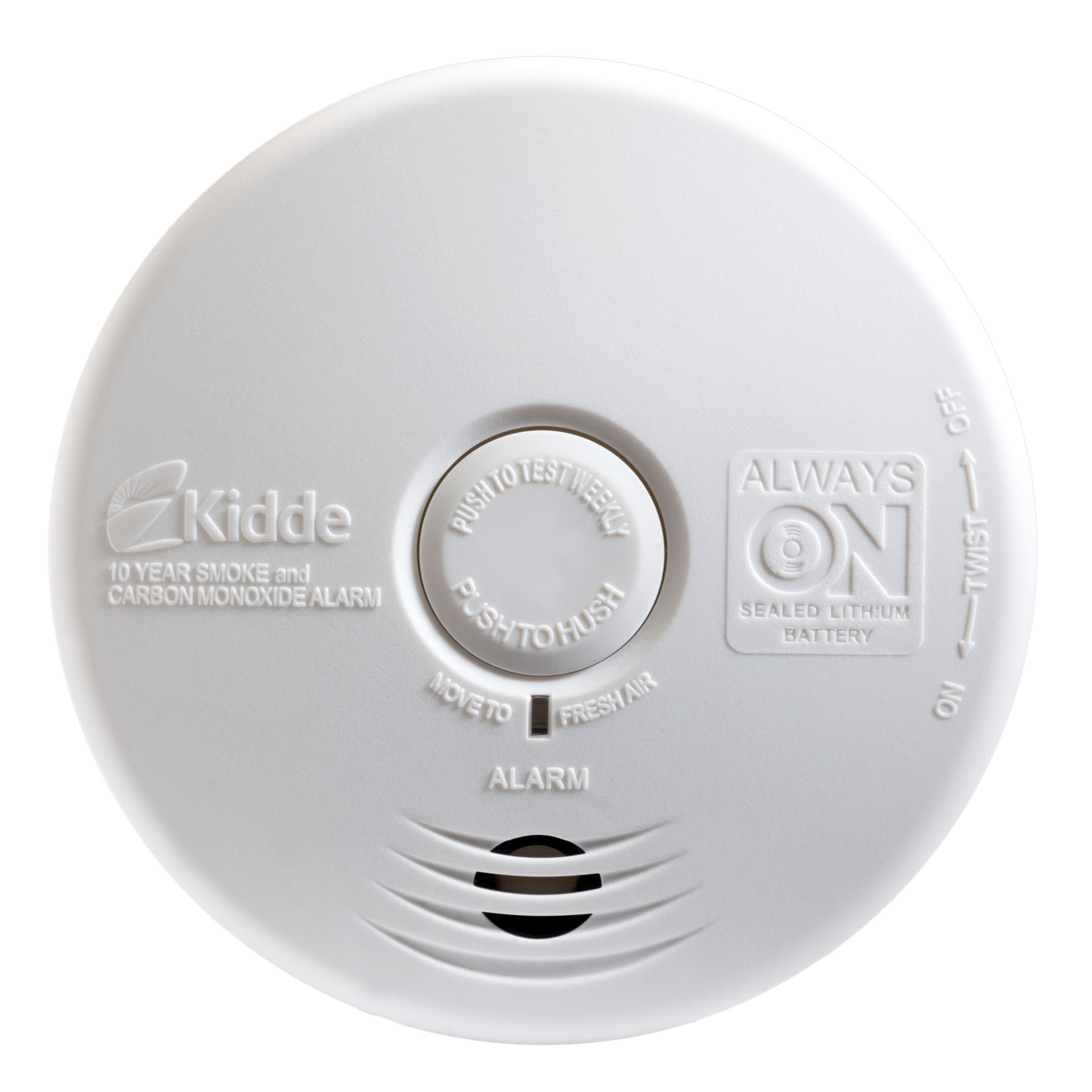 Smoke Alarms made by Kidde, a UTC fire and security company. These new and improved alarms come with a ten year warranty.