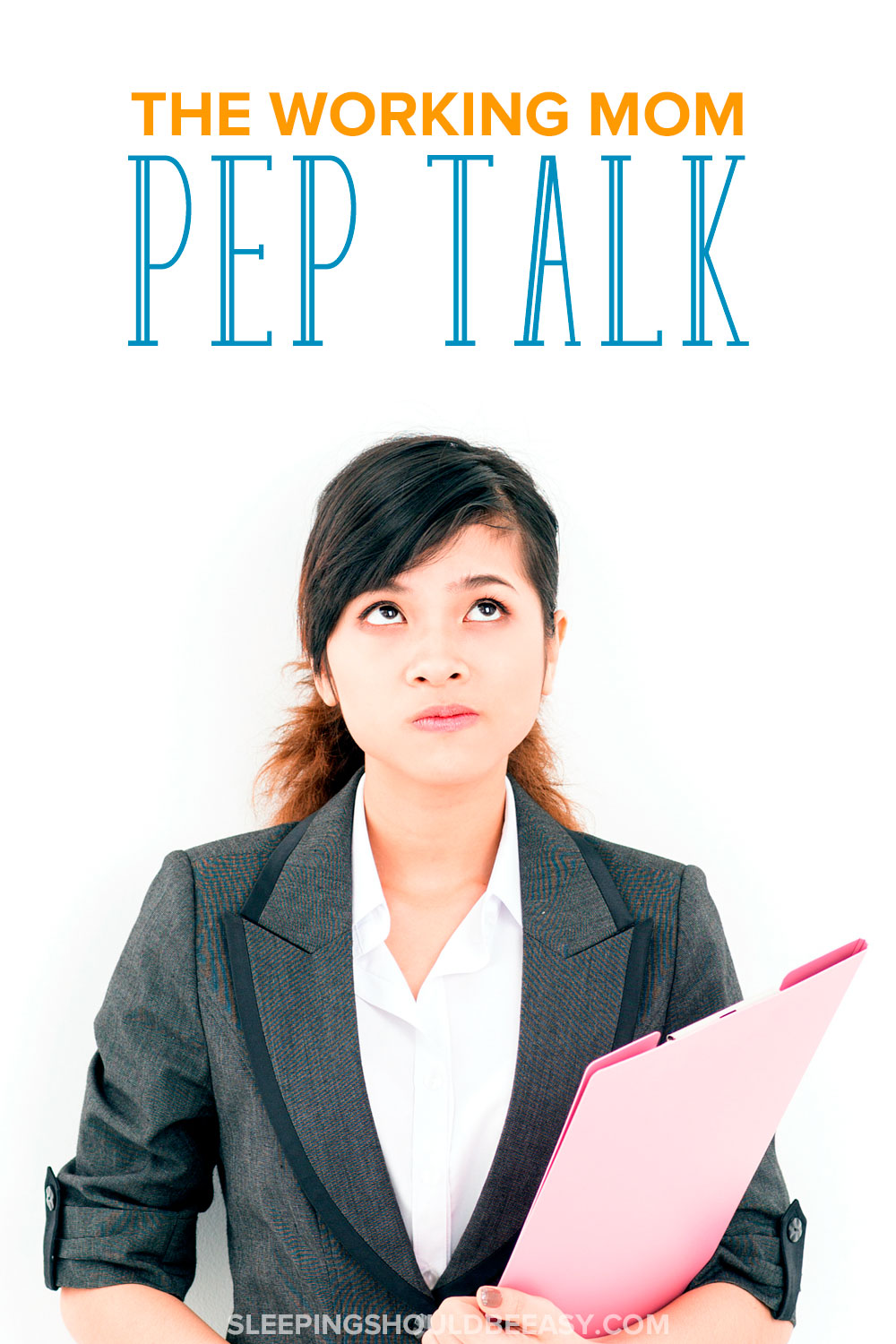 Do you feel guilty for leaving your kids to come to work? Some days are harder than others, especially when your child is sick. Here is your working mom pep talk to get you through the day.