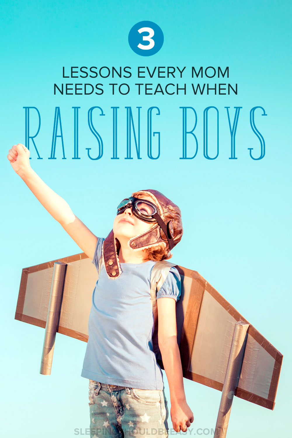 3 lessons for every mom raising boys in her family. Whether you have one boy or more, keep these tips in mind as you're raising confident boys who are kind and curious as well. A must-read if you're a mom of boys!