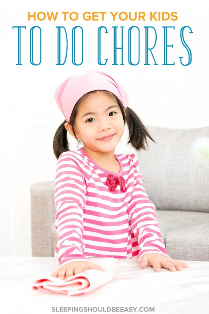 Little girl wiping a table: What to do when kids refuse to do chores