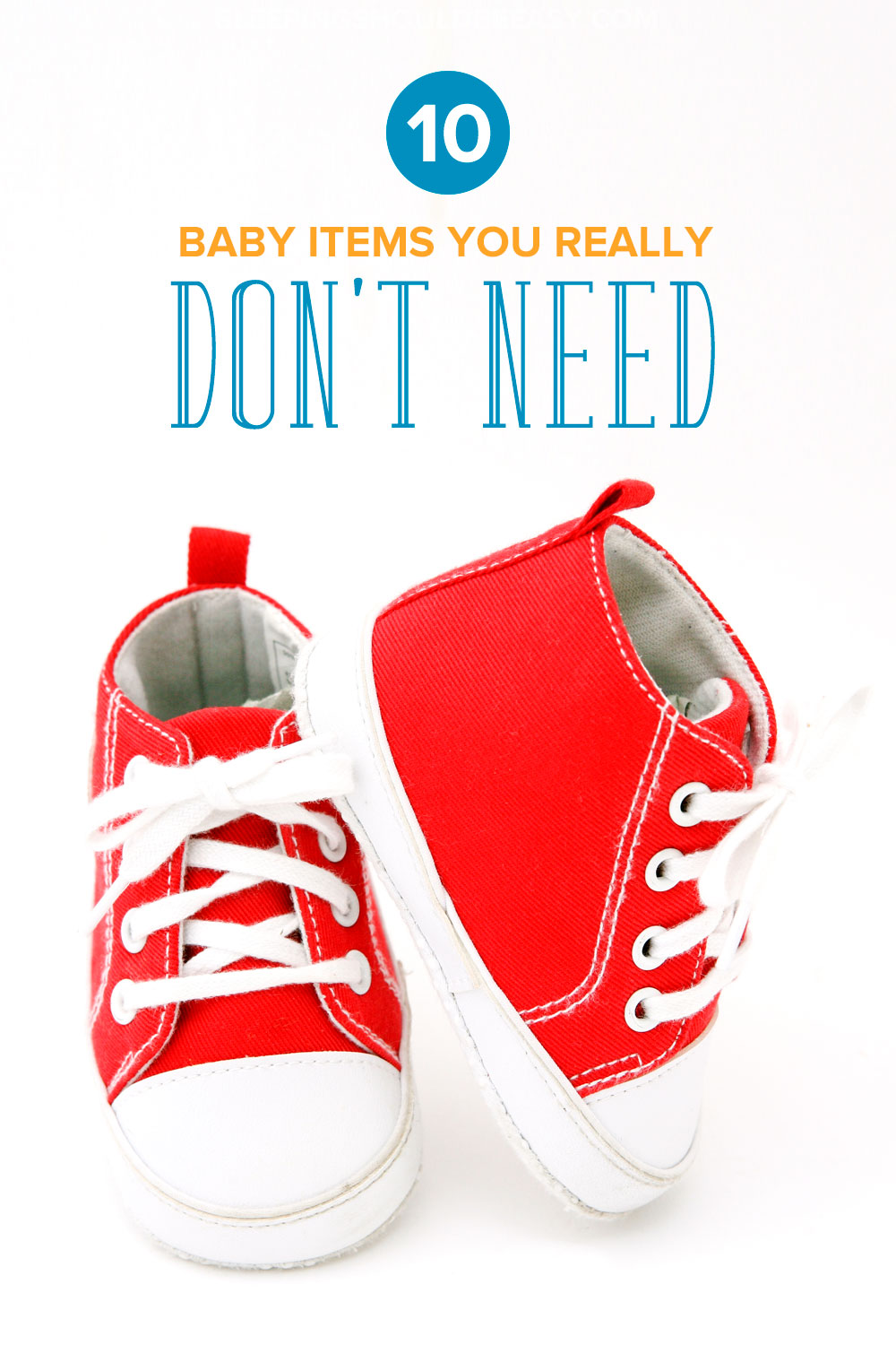 A pair of baby shoes: 10 baby items you really don't need