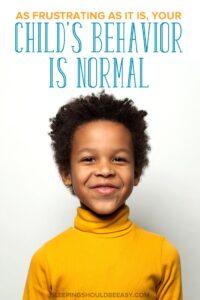child development and behavior
