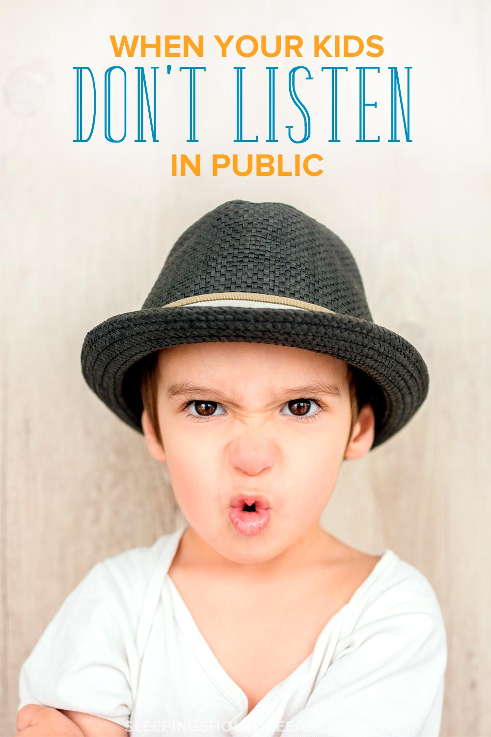 What to do when your kids don't listen in public