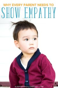Little boy sitting: parent needs to show empathy