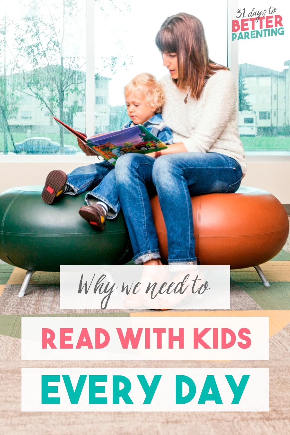 Mom reading with son: Why we need to read with kids every day