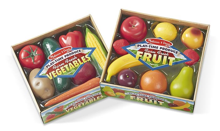 Pretend fruits and vegetables