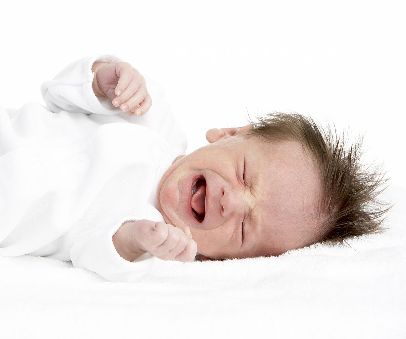 Newborn fights sleep