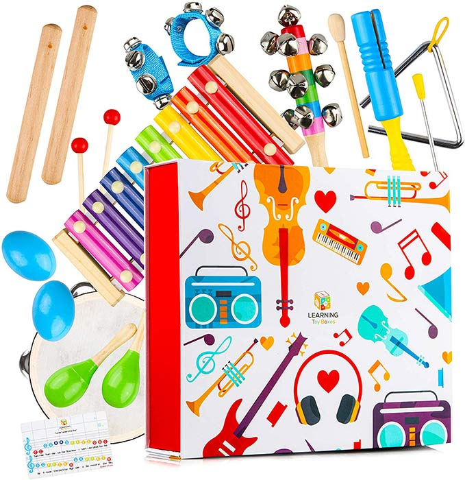 Learning Toy Boxes musical instruments