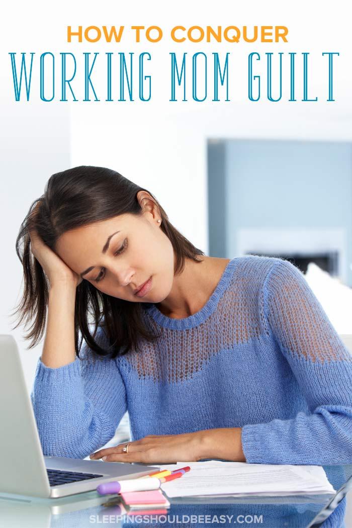 Woman feeling working mom guilt