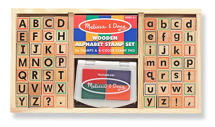 Alphabet wooden stamps