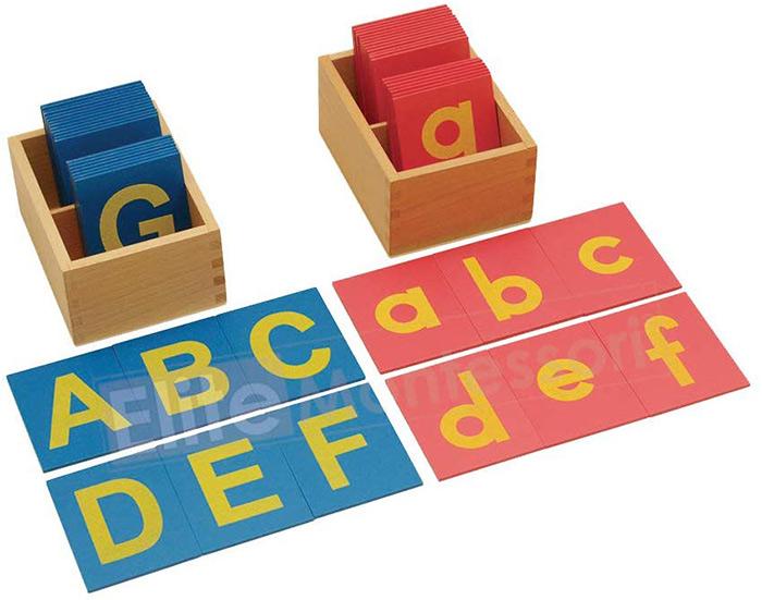 Elite Montessori Lower and Capital Case Sandpaper Letters