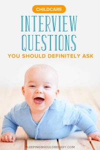 Finding the right childcare can be stressful for parents. Learn the childcare interview questions to ask, whether hiring a nanny, daycare, home daycare or babysitters. Plus, get tips about things to consider before making your decision. Even includes a FREE printable worksheet to record your notes! #childcare
