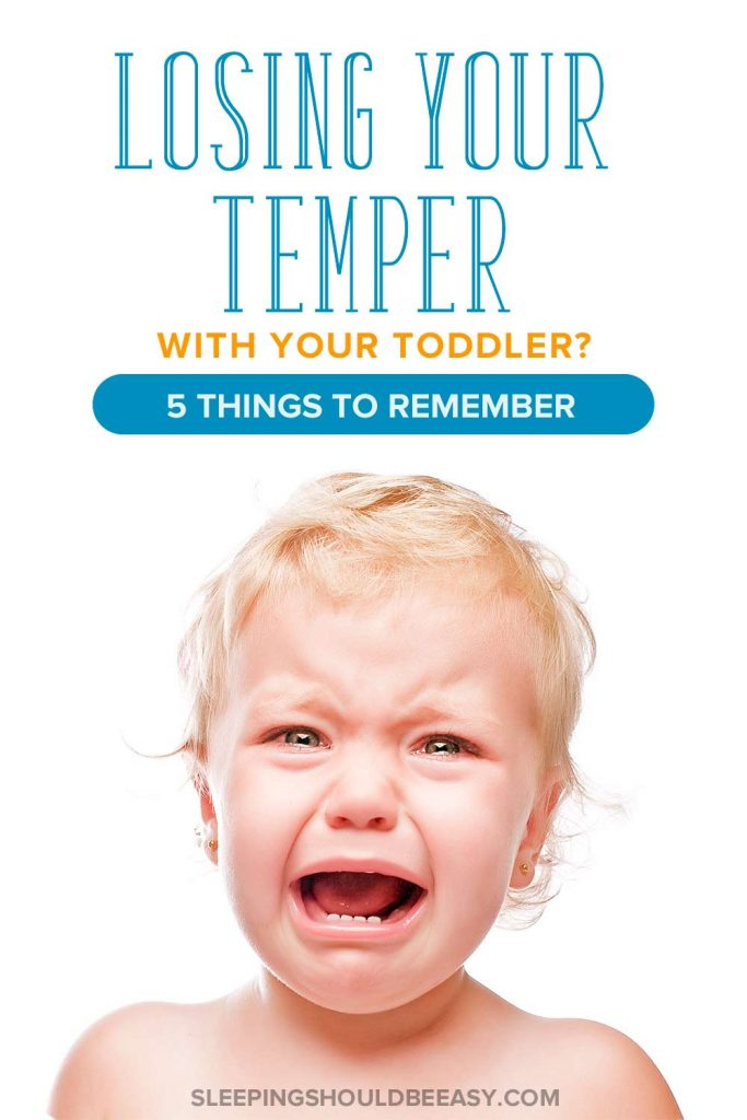 Losing your temper with your toddler? 5 things to remember: toddler boy crying