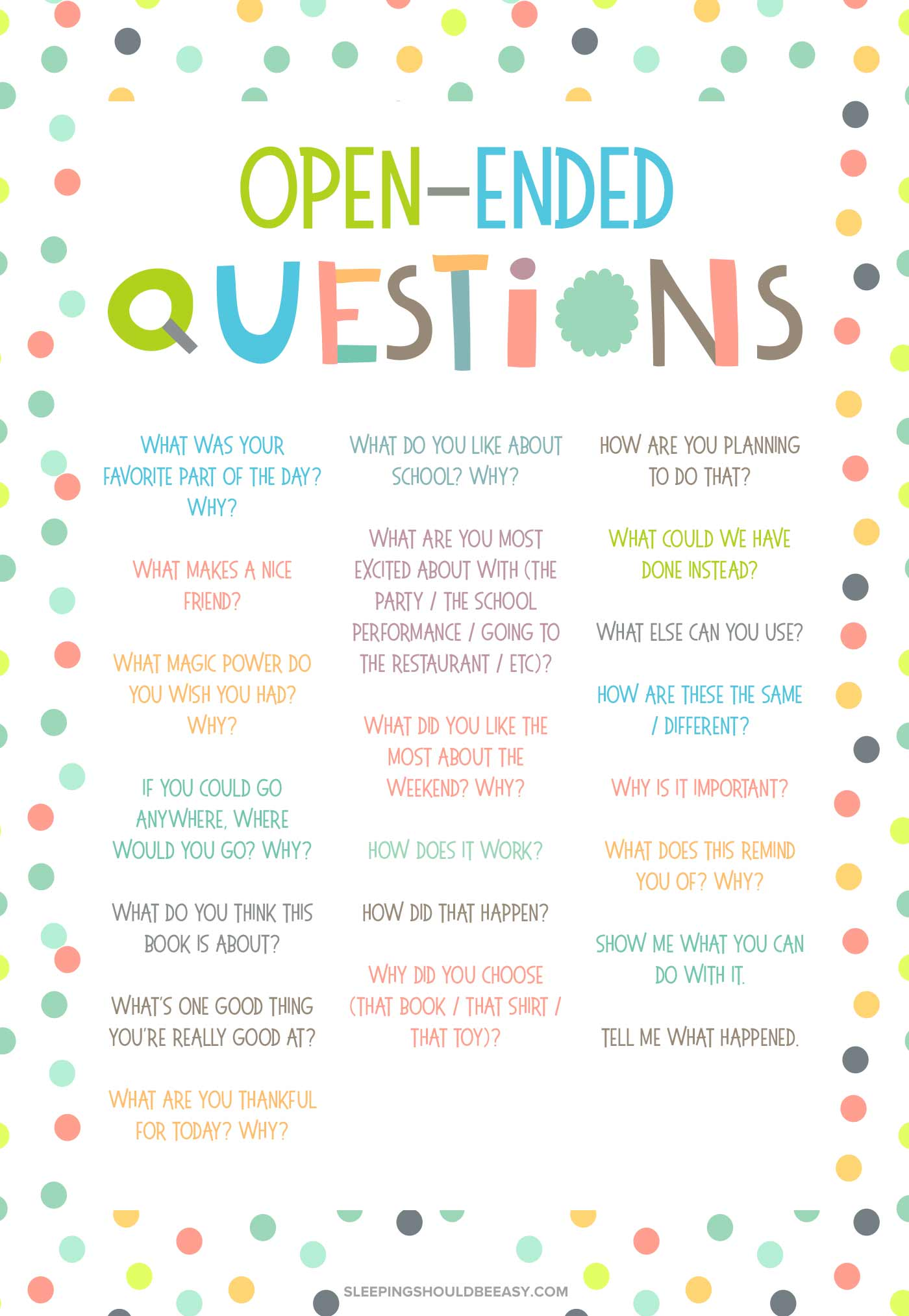 Getting To Know You Questions For Kids