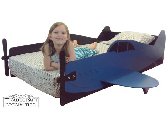 Airplane kids bed